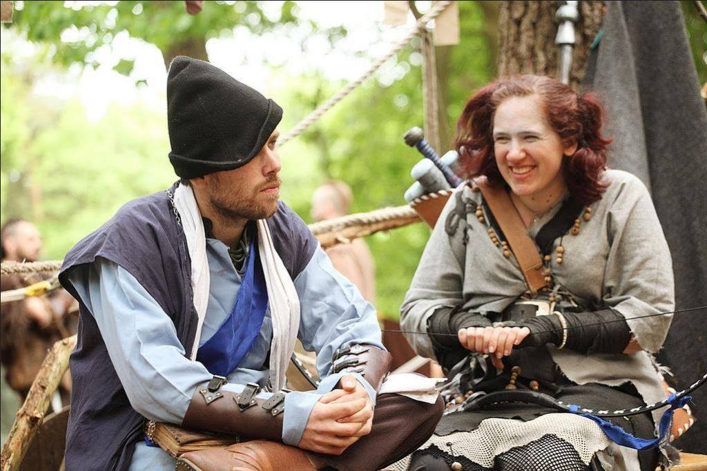De interactie tussen verschillende personages is een kernpunt van Live Role Playing.
